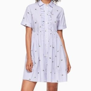 Kate Spade Abuzz Poplin Dress Bumble Bee